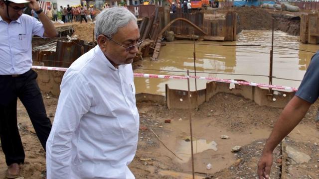 Bihar Chief Minister  Nitish Kumar in Patna on July 29