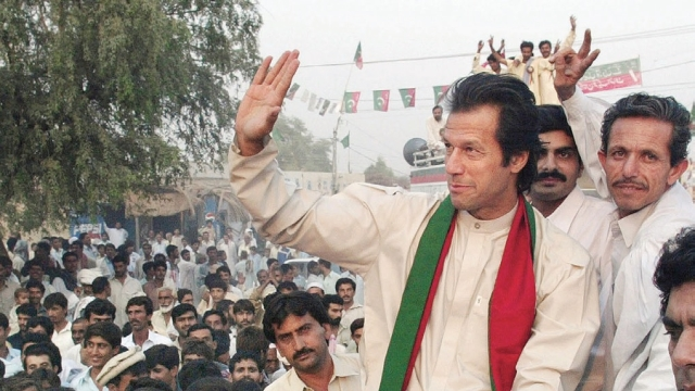 Chairman of Pakistan Tehreek-e-Insaf<b> </b>Imran Khan (file photo)