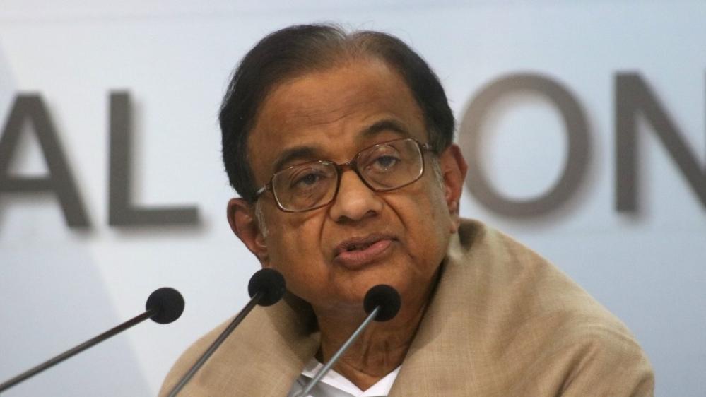 Congress leader and former Union Finance Minister P Chidambaram (file photo)