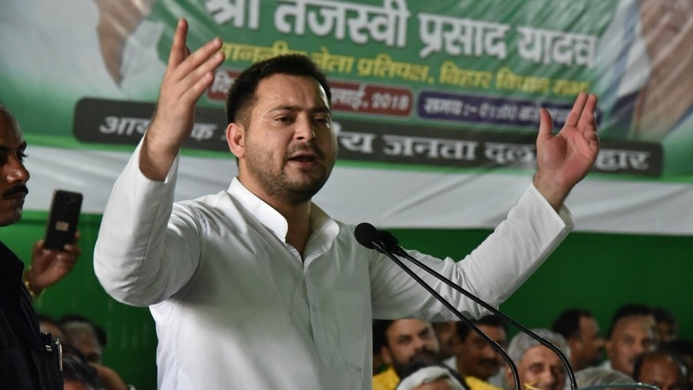 "RJD leader and Leader of Opposition in the Bihar assembly Tejashwi Prasad Yadav (file photo) on Tuesday accused the state government of ""saving its top officials and leaders involved in the"" Muzaffarpur Shelter Home rape case"