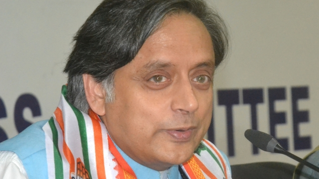 Congress leader Dr Shashi Tharoor (file photo)