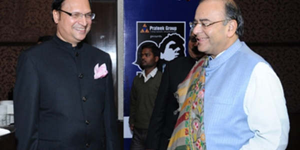 Newly elected DDCA President Rajat Sharma (left) with Arun Jaitley (right) (file photo)