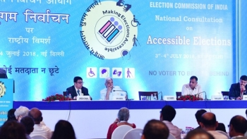 Chief Election Commissioner OP Rawat addressing participants at the National Consultation on Accessible Elections in New Delhi