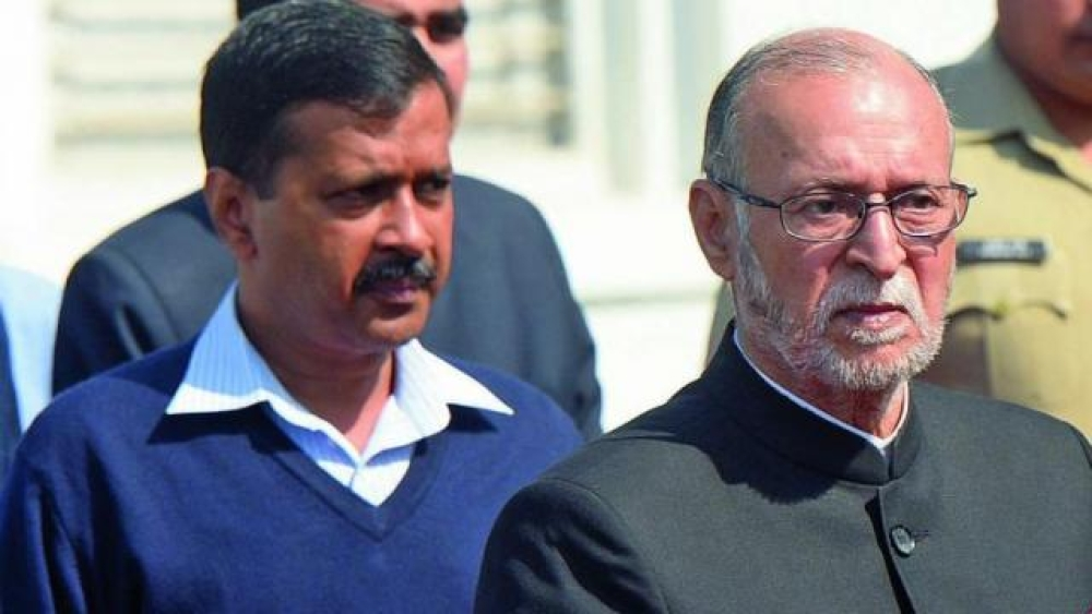 Delhi Chief Minister Arvind Kejriwal and Lt Governor Anil Baijal. A file picture