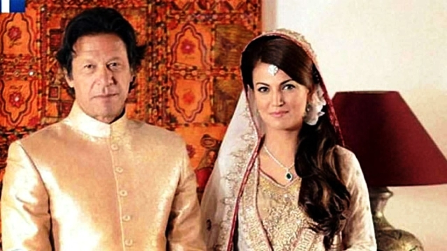 Imran Khan with his second wife Reham Khan