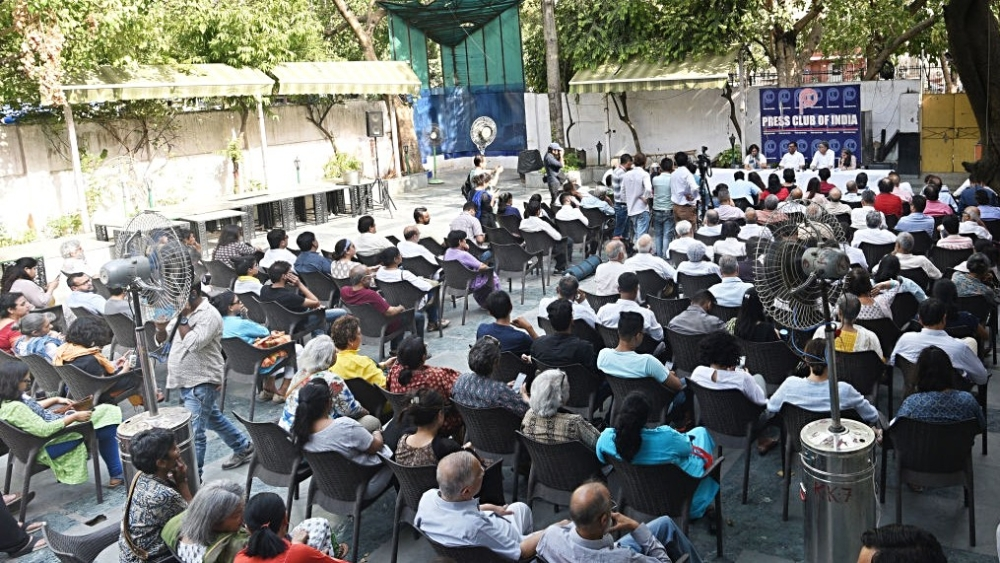Journalists at a meeting at the Press Club of India in New Delhi (file photo). Representative image
