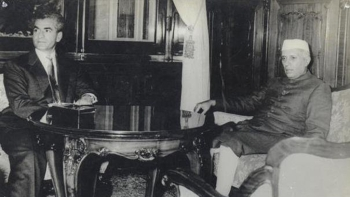 A file photo of former PM Jawaharlal Nehru with the Shah of Iran Reza Shah Pahlavi