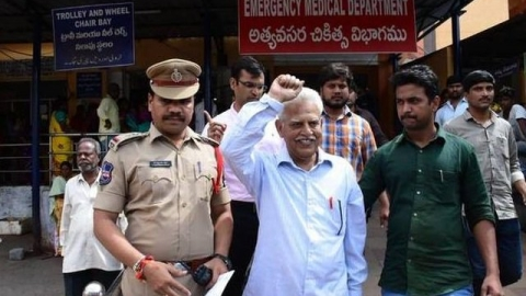 Varavara Rao brought back to Hyderabad, put under house arrest