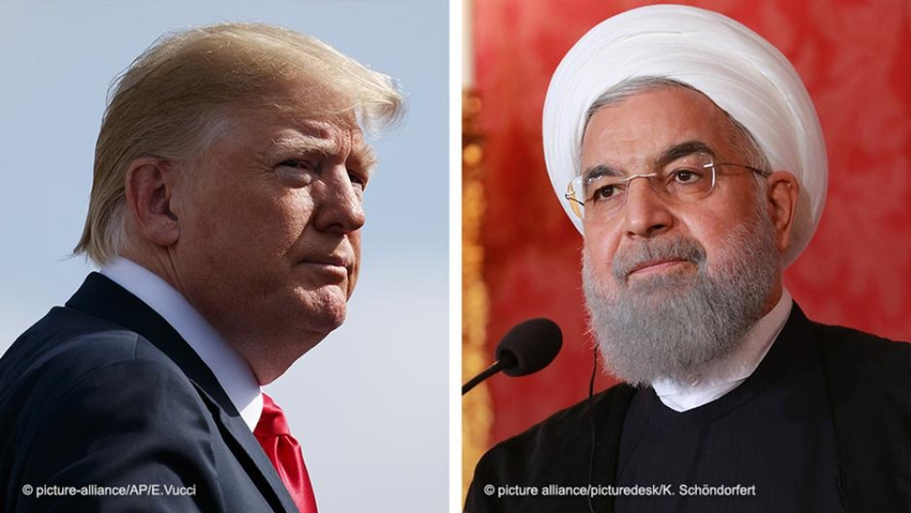 Presidents Donald Trump of the United States (left) and Hassan Rouhani of Iran