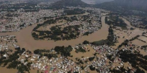 A view of floods in Kerala