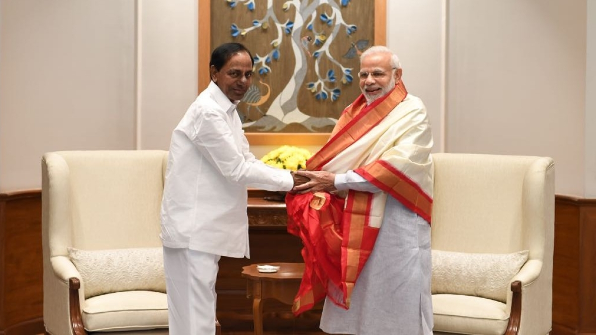 """After cosying up to BJP, KCR claims TRS will """"remain a secular party"""""""