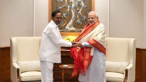 "After cosying up to BJP, KCR claims TRS will ""remain a secular party"""