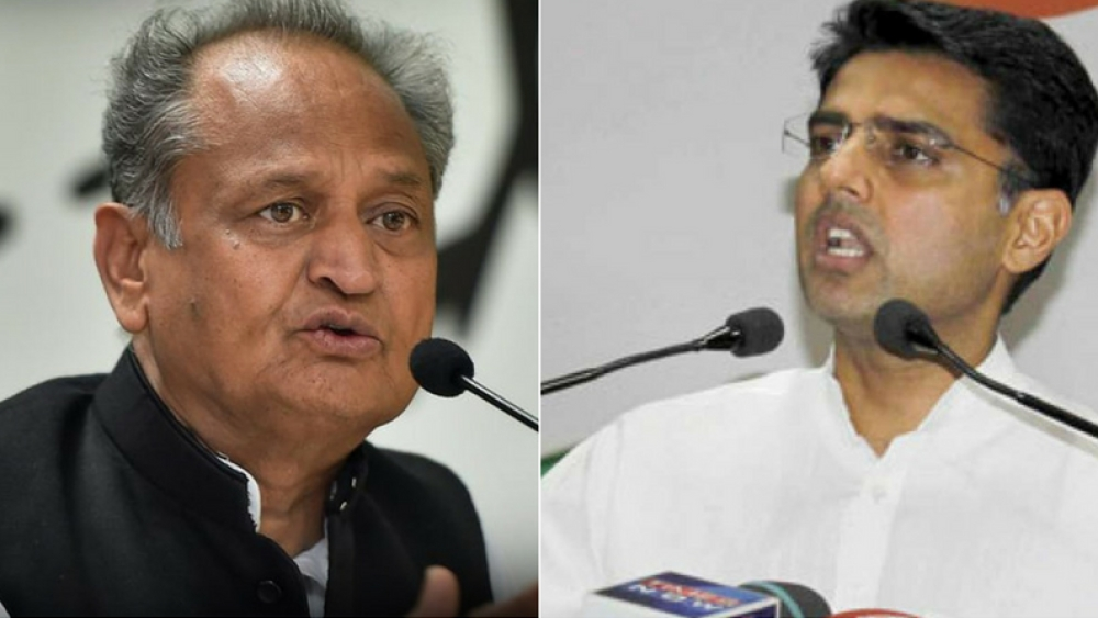 File photos of Congress leaders Ashok Gehlot and Sachin Pilot