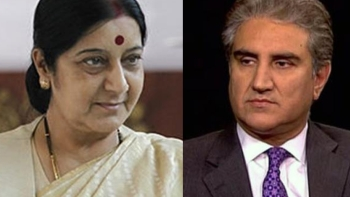 India External Affairs Minister Sushma Swaraj & Pakistani counterpart Shah Mehmood Qureshi