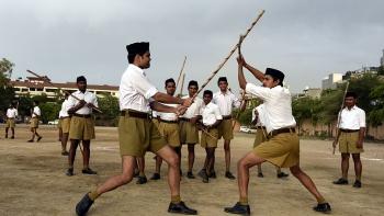 RSS training camp at Gandhi Nagar