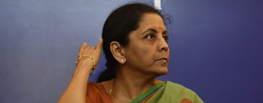 Defence Minister Nirmala Sitharaman interacts with journalists at Indian Women's Press Corps in New Delhi (file photo)