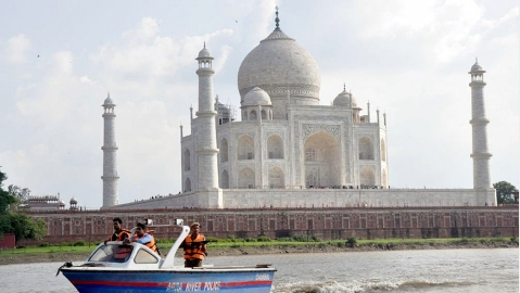 Monkey attacks create panic among tourists at Taj Mahal in Agra