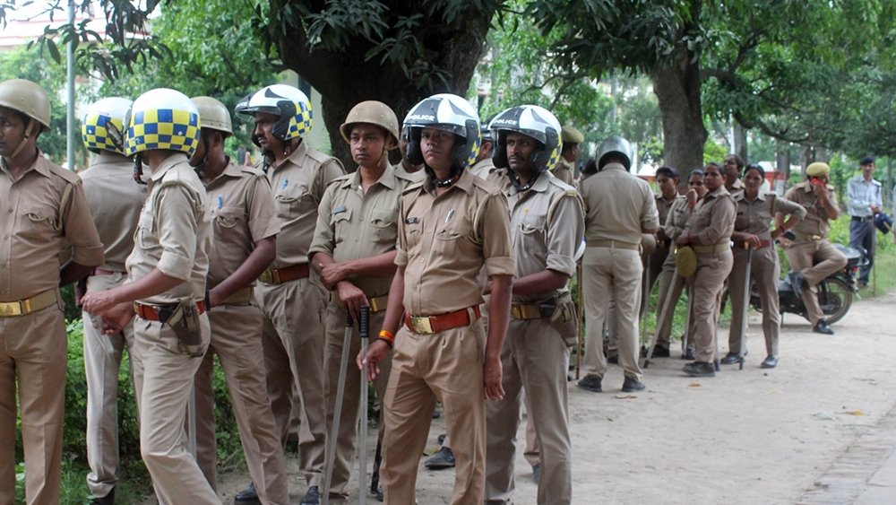Police at Banaras Hindu University campus (file photo)