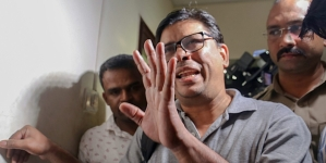 Arun Ferreira, a human rights activist and lawyer, after he was arrested by the Pune police in connection with Bhima Koregaon violence case, in Mumbai on August 28, 2018