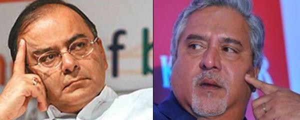 Finance Minister Arun Jaitley and Vijay Mallya