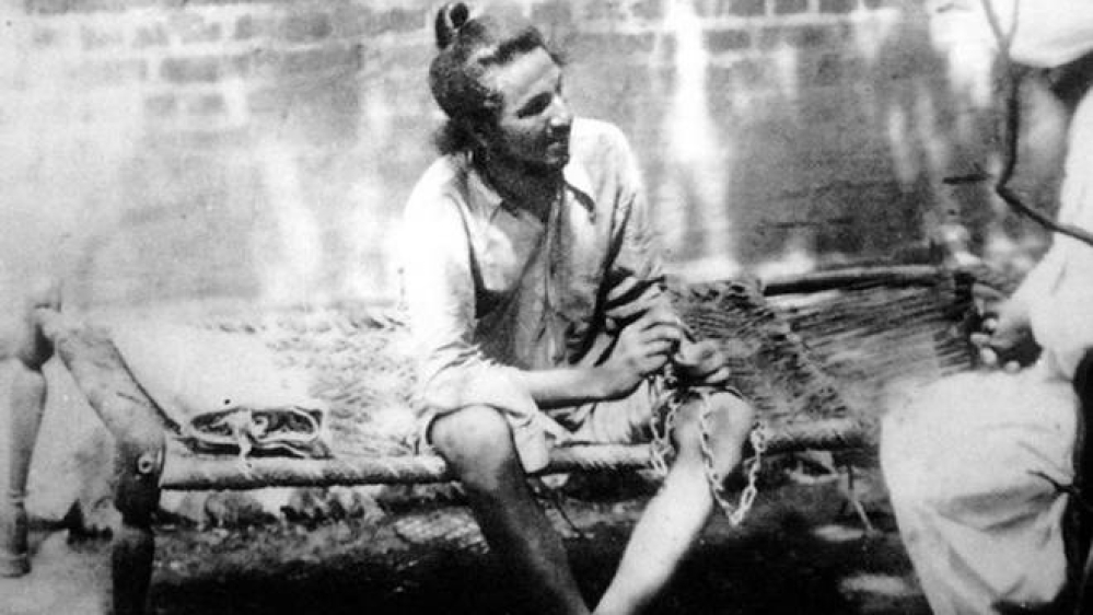 An archive photograph of Bhagat Singh in Lahore jail