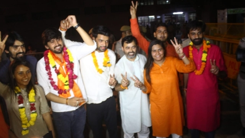 DUSU polls: ABVP bags three posts, NSUI one; CYSS-AISA demands enquiry