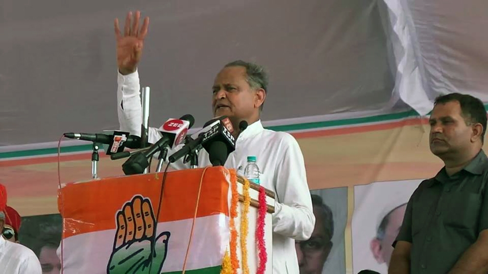 Senior Congress leader and former Rajasthan Chief Minister Ashok Gehlot (file photo)