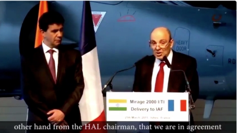 WATCH: Dassault Chairman saying on March 23, 2015 that deal with HAL for Rafale was almost done