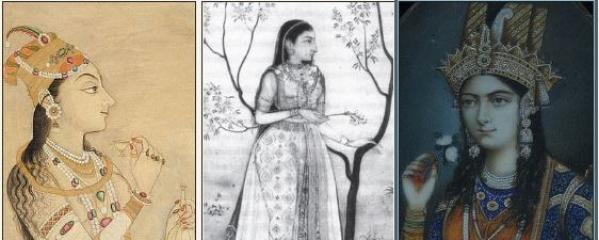 L-R: Nur Jahan, Jahanara and Mumtaz Mahal