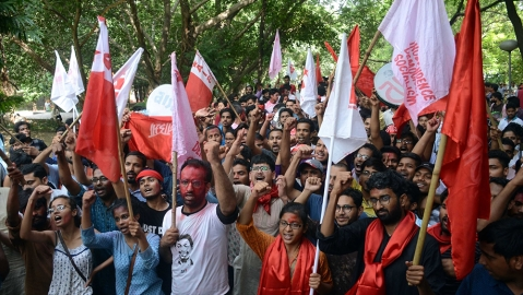 "JNU United Left: ""Victory for those who don't want Hindustan to become lynchistan"""