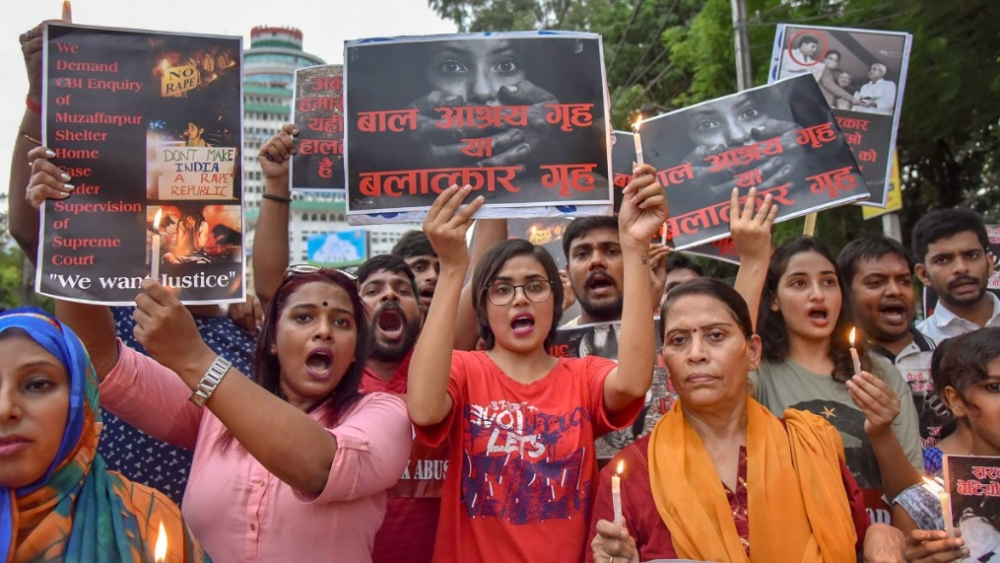 A protest march against the recent incident of Muzaffarpur shelter home rape case, in Patna (file photo)