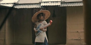 A screen grab of the film by Rima Das 'Village Rockstar'