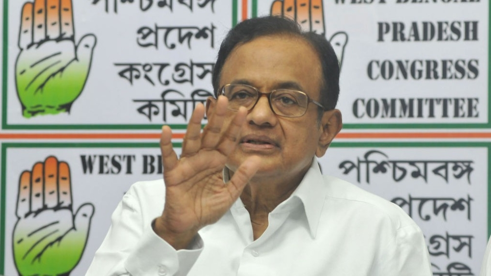 Former Union Finance Minister and senior Congress party leader Palaniappan Chidambaram (file photo)