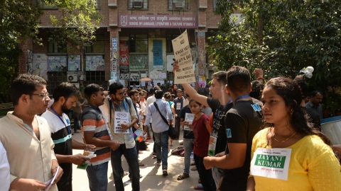 JNUSU Polls:  12 student's orgs demand  ABVP be kept out of counting venue