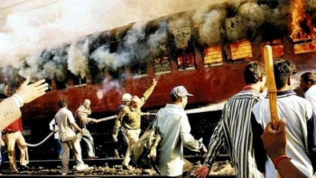 Sabarmati Express - Coach S-6 of the Sabamati Express train that killed 58 people subsequently leading into Gujarat riots in 2002 (file photo)