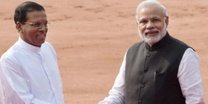 Sri Lankan President Maithripala Sirisena with Prime Minister Narendra Modi (file photo)