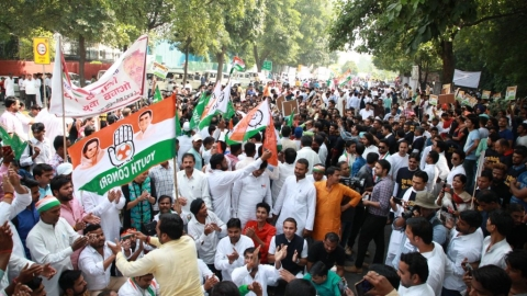 Desh Bachao, Yuva Bachao: Youth wings of 14 parties hold joint protest against Modi govt