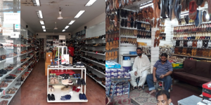 Chandni Chowk shopkeepers waiting for customers