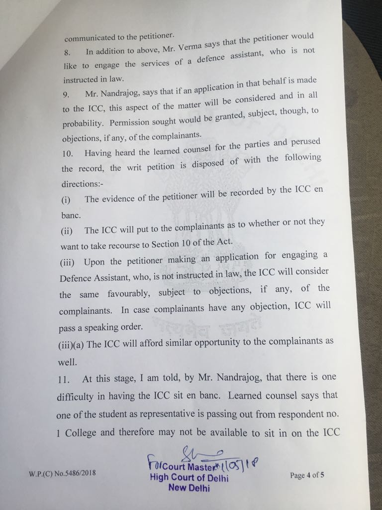 The Delhi HC's order scrapping the writ petitions filed by Amit Kumar