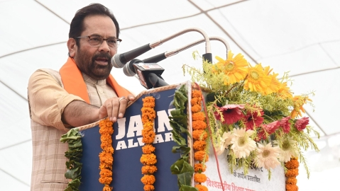 EC lets off Union minister Mukhtar Abbas Naqvi with warning for 'Modiji ki sena' remark