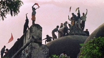 The Babri Masjid at Ayodhya in Uttar Pradesh which was razed to the ground by Hindutva activists who claimed it stood on the birthplace of Lord Ram