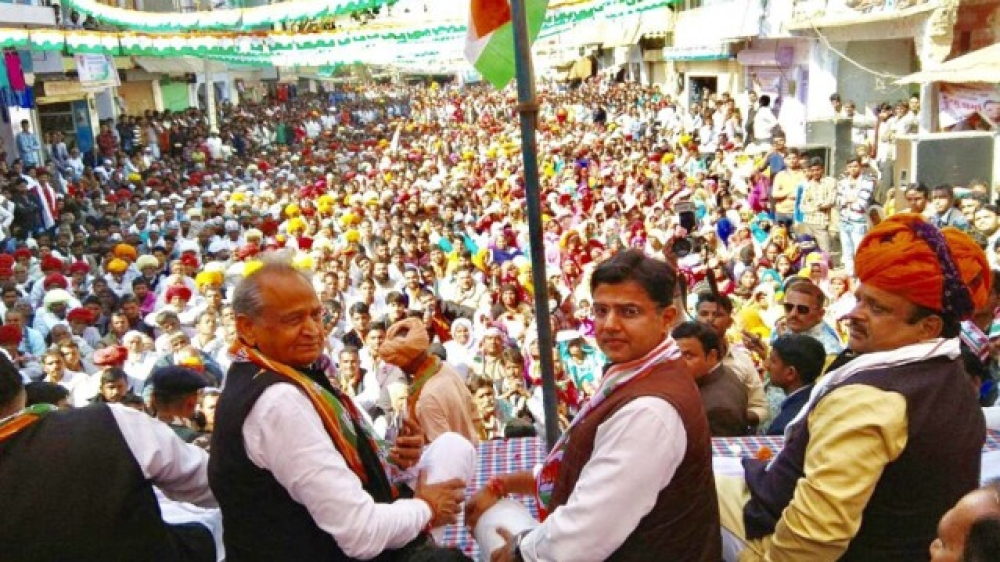 Congress leaders Ashok Gehlot and Sachin Pilot (file photo)