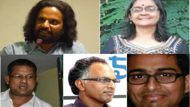 Five accused of plotting to kill Indian Prime Minister Narendra Modi Rona Wilson, Shoma Sen, Surendra Gadling, Sudhir Dhawale, Mahesh Raut