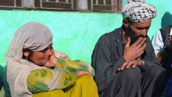 Mohd Yousuf (right), the father of the Kathua rape victim