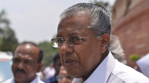 CM Vijayan lashes out at Centre for 'denying' funds to flood-hit Kerala