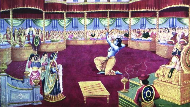 The swayamvar of Draupadi