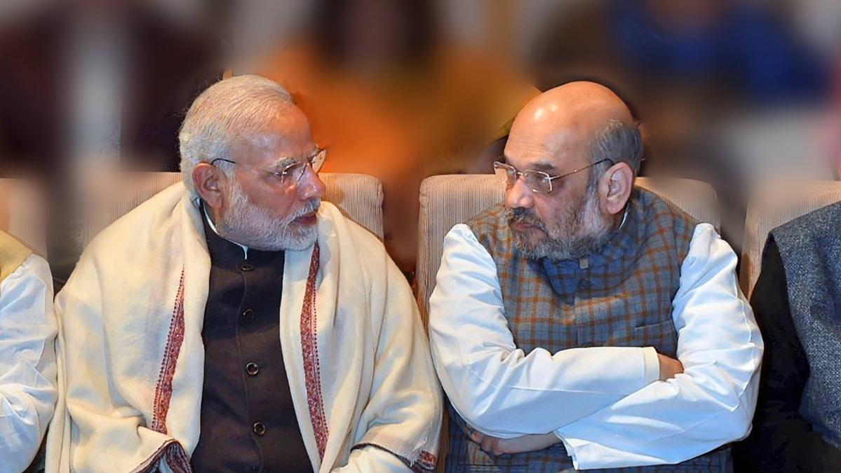 Prime Minister Narendra Modi with BJP President Amit Shah