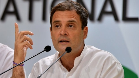 Stay alert, EVMs have mysterious powers in Modi's India: Rahul to party workers