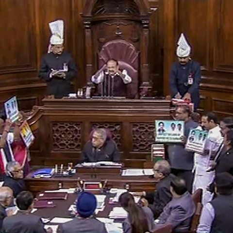 Rajya Sabha adjourned amid protests; passes Bill for fixing term for autism, disabled persons Trust