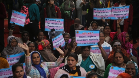 RS members assure Trans Bill will not be passed in current form; protest held at Jantar Mantar